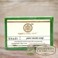 "Мыло Кхади ""Ним"" 125г (Khadi PURE NEEM SOAP)"