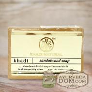 """Мыло Кхади """"Сандаловое дерево"""" 125г (Khadi SANDAL WOOD SOAP)"""
