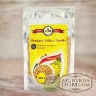 Горчица желтая семена 100гр/Шри Ганга