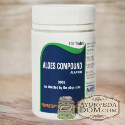 """Алоез Компаунд"" от ""Аларсин"", 100 таблеток (Aloes Compaund Alarsin)"