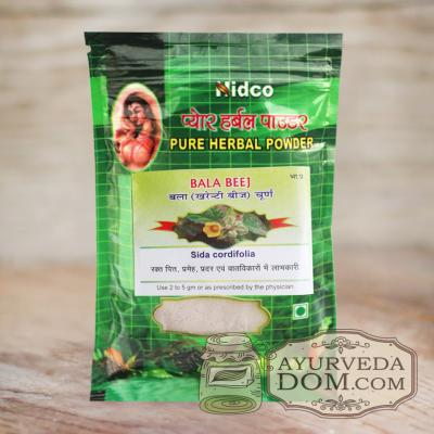 """Бала"" чурна производитель ""Нидко"" 50 грамм (Nidco SIda Cordifolia Bala seeds)"