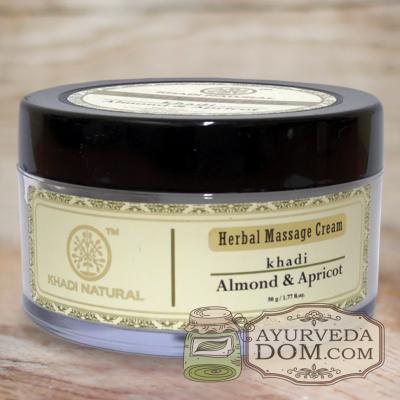 "Крем для массажа ""Миндаль и Абрикос"" 50г (Khadi Almond & Apricot Massage Cream)"