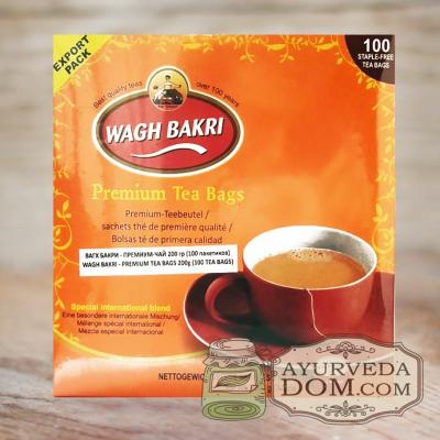 """Чай премиум """"Вагх Бакри"""" 200гр 100 пакетиков (Wagh Bakri Premium tea)"""