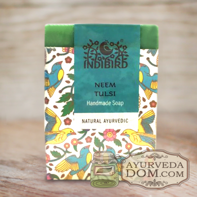 Мыло аюрведическое Ним & Тулси (Ayurvedic Handmade Soap Neem & Tulsi)