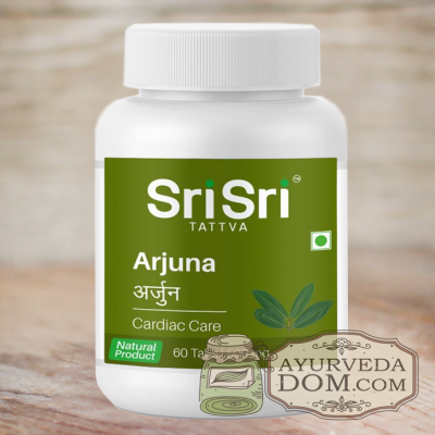 """""""Арджуна"""" от """"Шри Шри Таттва"""", (500 мг) 60 таблеток (Sri Sri Tattva Arjuna)"""