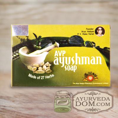 """Аюрведическое мыло """"Аюшман"""" 75 gm производитель """"Арья Вайдья Фармаси"""" (Ayushman"""