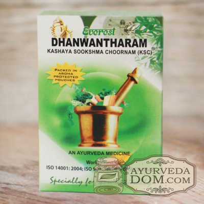 «Дханвантарам кашая чурна» производитель «Эверест», 100 грамм (Dhanwantaram Ever