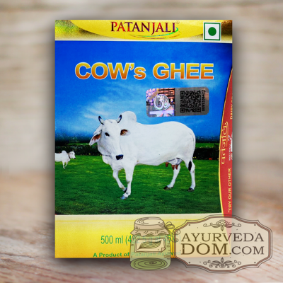 "Топленое масло Гхи 500 мл ""Патанджали"" из Индии (Patanjali Cow's Ghee)"