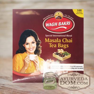 ВАГХ БАКРИ-Масала чай 200г(100пак)/WAGH BAKRI- Masala tea 200g(100 bags)