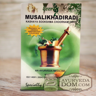 «Мусаликхадиради кашая чурна» 100гр производитель «Эверест» (Musalikhadiradi Eve