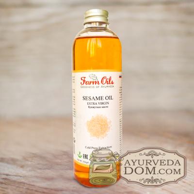 Кунжутное масло холодного отжима (Farm Oils Extra Virgin) 250мл